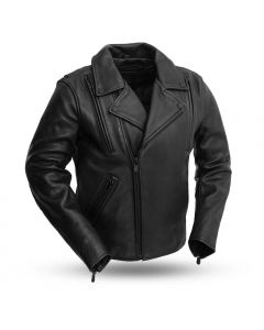 Womens Motorcycle Leather Vest First MFG Co Black, Medium - Envy