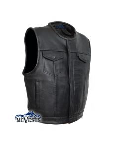 First Mfg Co Haywood Mens Roll collar club style vest Blue, X-Large